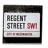 Stylish Square Glass Coaster(s) (Street Regent Street) by A2G
