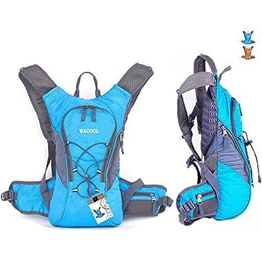 WACOOL Waterproof Hydration Bladder Pack, Cycling Backpack, Lightweight Daypack (Blue)