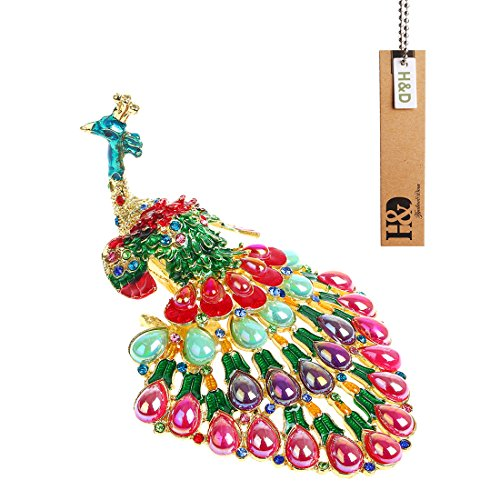 - YUFENG Peacock Trinket Box Hinged Ring Holder Small Jewelry Bejeweled Trinket Boxes Figurine Collectible Gift (trinket box)