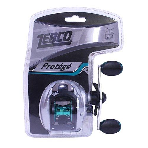 Zebco 6.1:1 Gear Ratio Quantum Protege 100 Right Hand Clam Package Baitcast Reel (Rod Zebco Baitcast)
