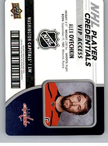 Alexander Ovechkin Nhl Player - 2018-19 UD MVP NHL Player Credentials Access #NHL-AO Alexander Ovechkin Washington Capitals VIP Upper Deck 18-19 Hockey