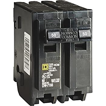 Your One Source HOM250CP 50-Amp 2-Pole Plug-On Circuit Breaker by Homeline