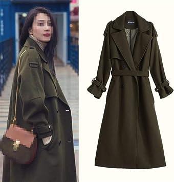 NHX damski płaszcz wełniany, modny, dwurzędowy, swobodny, w stylu retro, styl Swing Coats: Sport & Freizeit
