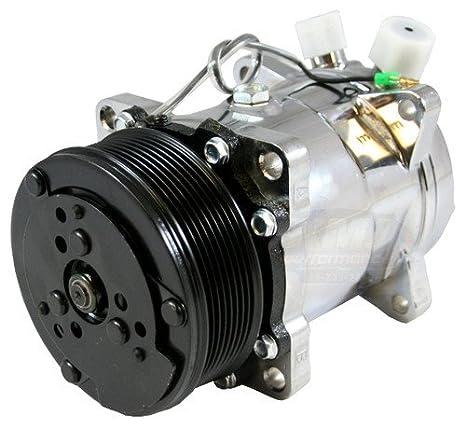 NUEVO tipo de sd709 4515 sanden 508 A/C compresor acabado satinado o de R12 R134 a: Amazon.es: Coche y moto
