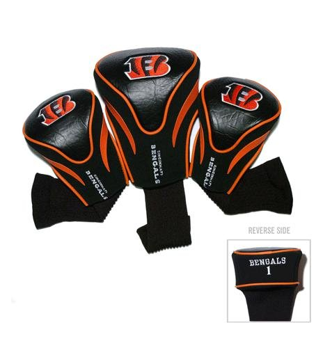 Team Golf NFL Cincinnati Bengals - 3 Pack Contour Sock Headcovers by Team Golf