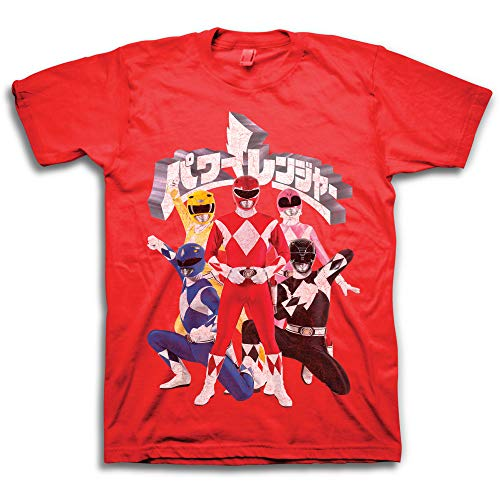 Power Rangers Mighty Morphin Shirt - Mighty Morphin Mens Graphic T-Shirt (Red, Small)