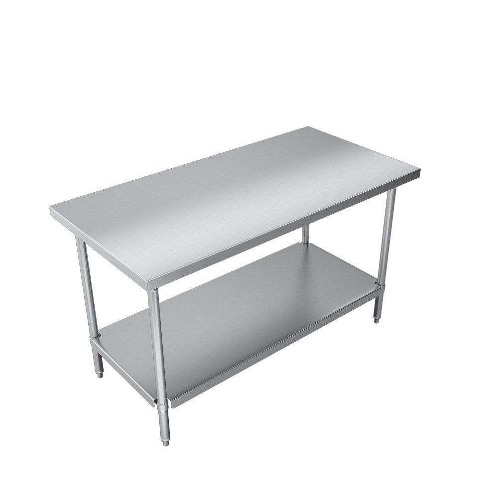 Elkay Commercial Grade NSF Stainless Steel Table with Adjustable Height Feet and Undershelf, 36'' x 24'' by Elkay Foodservice (Image #4)
