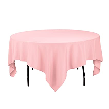 Charmant Gee Di Moda Square Tablecloth   85 X 85 Inch   Pink Square Table Cloth For