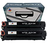 Triple Best Set of 2 Compatible Replacement 312X CF380X High Yield Black Laser Toner Cartridge for HP Color LaserJet Pro MFP M476dn MFP M476dw MFP M476nw