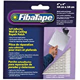 FibaTape FDW6836-U 4-by 4-Inch Self-Adhesive Perforated Aluminum Wall and Ceiling Repair Patch, White