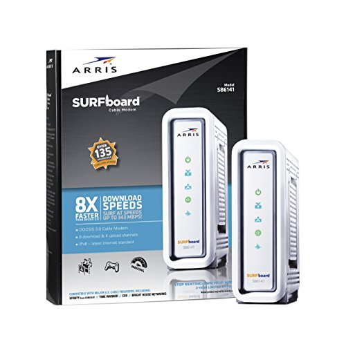 ARRIS SURFboard SB6141 DOCSIS 3.0 Cable Modem – Retail Packaging