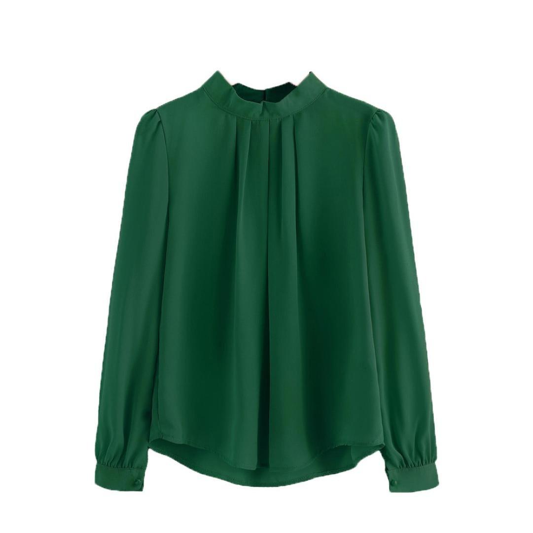 Teresamoon Clearance Sale ! Chiffon Blouse Women Loose Casual Long Sleeve Shirt 5156