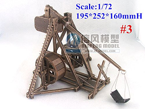 Air-Ads Ancient Weapons 1:72 Scale Rome Trebuchet with Pedal Wheel Medieval Siege Warfare Weapon Mangonel Classic Collection Model kit #3