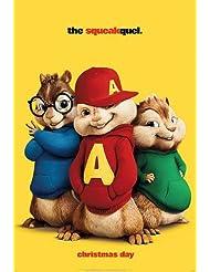 """ALVIN & THE CHIPMUNKS THE SQUEAKQUEL - D/S 13.5""""X20"""" Original Promo Movie Poster"""