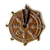 DHARMA WHEEL AMULET BUDDHISM SYMBOL TIBET CHARM SOLID COPPER PENDANT TALISMAN