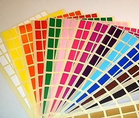 Audioprint Ltd. - Adesivi prezzo rettangolari etichette 10 x 20 colorati - 10 x 20mm, verde
