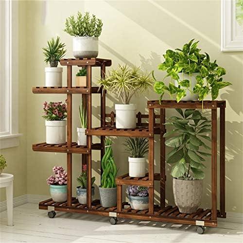 QTDS 7-lagiger Blumenständer/Montageblumenständer/Outdoor-Kieferngartenhaus Blumenständer-Balkonrahmen trapezförmiger Ausstellungsstand (Style : A)