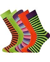 Mysocks® 5 pares de algodón peinado calcetines Stripe Hombre tamaño 42-46