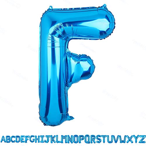 40 Inch Jumbo Blue Alphabet Mylar Foil Helium Letter Balloons Single Bridal Shower Anniversary Celebration Graduation Single Birthday Party -