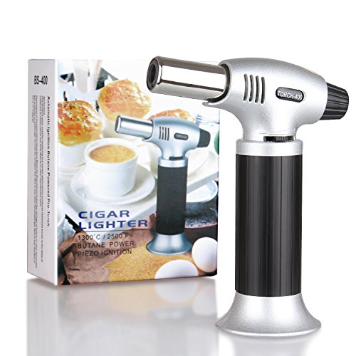 Ubitking Blow Torch Refillable Butane Torches Kitchen Culinary Cooking Torch with Safety Lock for Camping, Cooking, Baking,Creme Brulee and BBQ