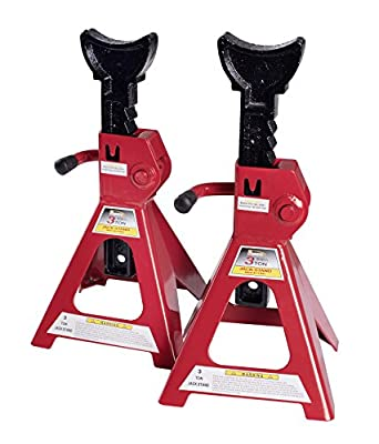 BAISHITE Big Red Steel Jack Stands 3 Tons Capacity (1 pair)