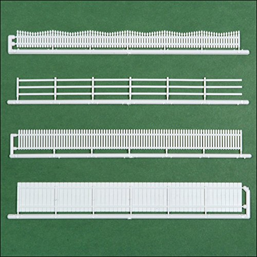 (20 Piece HO Scale Fencing Assortment, 4 Styles)