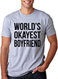 Best Boyfriend T Shirts - World's Okayest Boyfriend T Shirt funny dating tee Review