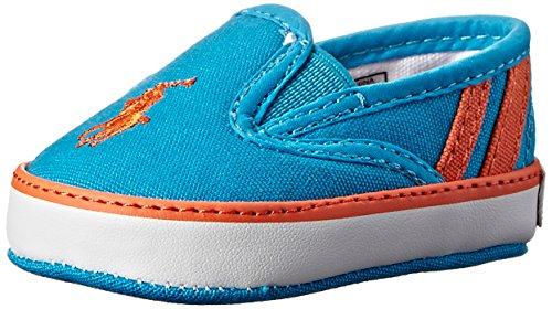 Ralph Lauren Layette Serena III Crib Shoe (Infant/Toddler), Caribbean Blue, 3 M US Infant