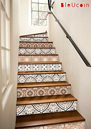 Stair Riser Decal Strips : 2017 Interior trend -Earthy tones- Pack of 10 strips with 124cm length (6