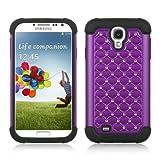 Purple Deluxe Xshield Hybrid Gel Rhinestone Bling Case Cover for Samsung Galaxy S4 i9500+ Pen Stylus, Best Gadgets