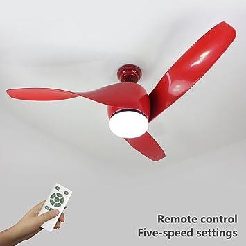 Natsen 52 led semi flush mount ceiling fan lighting with remote natsen 52quot led semi flush mount ceiling fan lighting with remote control three red aloadofball Images