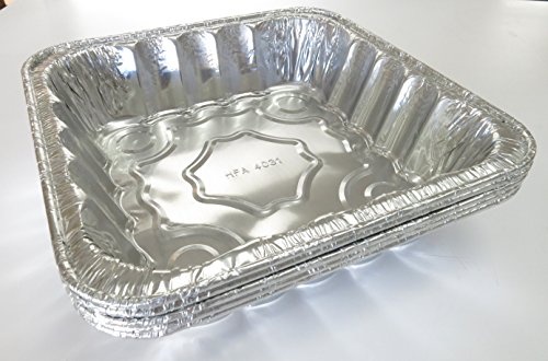 Disposable/reusable Square Poultry Roasting Pan-10 3/8