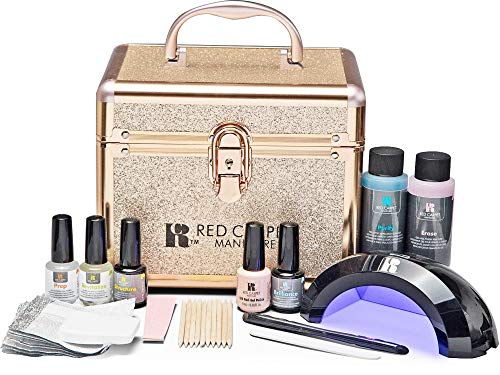 Red Carpet Manicure Pro 45 Ultimate Pro LED Gel Nail Polish Kit with Train Case