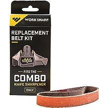 Work Sharp WSSA000CMB Combo Knife Sharpener Replacement Belt Kit