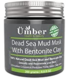 Skinfood Mud Mask - Dead Sea Mud Mask with Bentonite Clay Mineral-rich 100% Natural Mud – Detoxify, Reduce Pores, Fights Acne & Improve Circulation with Jojoba Oil & Shea Butter by Umber NYC (8.8 OZ)