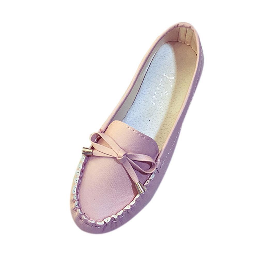 Mocassins Femmes, confort QinMM Mode 19977 Printemps Eté Mocassins En Cuir Souple Flats chaussures, Casual Noeud papillon confort gliss Flat Rose c7c1b46 - jessicalock.space