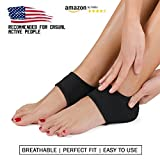 Plantar Fasciitis Foot Arch Support Wrap By Mello - Graduated Pressure Technology That Relieves From Pain, Prevents Fatigue, Aids Quick Muscle Recovery - Premium Quality, Breathable Material (S)