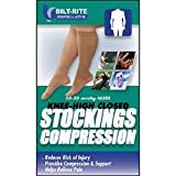 Bilt-Rite Mastex Health 10-74100-MD Knee High Stockings, Sand, Medium
