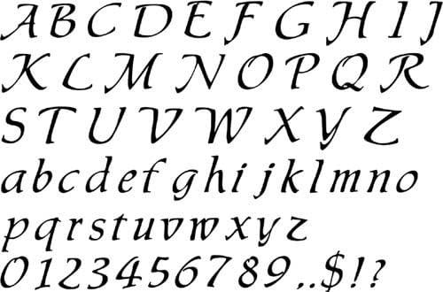 Amazon Com Designer Stencils Calligraphy Script Lettering Wall Stencil Sku 3113 Home Kitchen