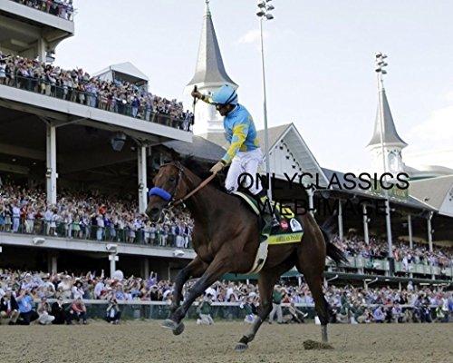 OnlyClassics 2015 Triple Crown Win American Pharaoh Belmont Stakes Horse Racing Photo Pharoah ()
