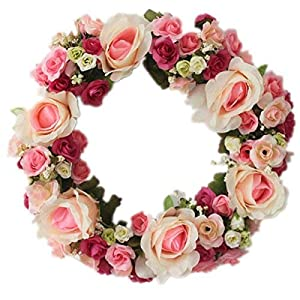 LOUHO Flower Wreath for Wall and Front Door 114