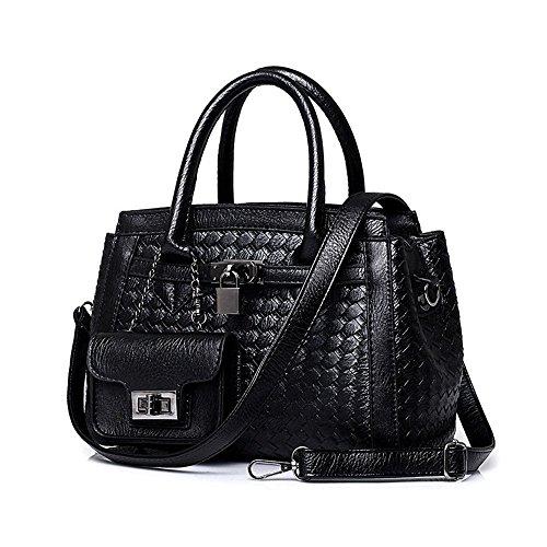 Ecollection® Damen Knit Designer Style Schultertaschen Top Griff Tasche Handtaschen Women's Knit Designer Style Shoulder Handbag Top Handle Bag