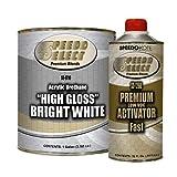 Speedokote High Gloss Bright White 2K Acrylic Urethane, 4:1 Gallon Kit, SMR-9710/1260