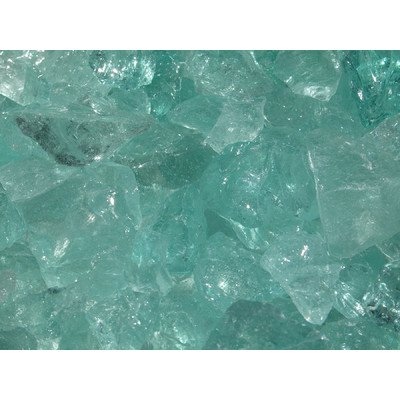Exotic Pebbles & Aggregates EG10-L07 10 Lb Aqua Glass Pebbles
