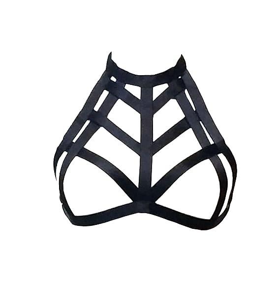 arnés sujetador, Jelinda Halter de las mujeres del cuello del cuerpo de la jaula del sujetador: Amazon.es: Ropa y accesorios