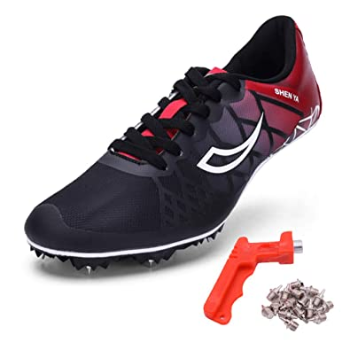 755f7d4d8e Ifrich 2019 Men Spikes Athletics Racing Shoe Track and Field (US 3.5, Black)