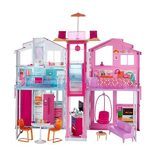 Barbie - Supercasa - casa muñecas, regalo para niñas y niños 3-9 años Mattel