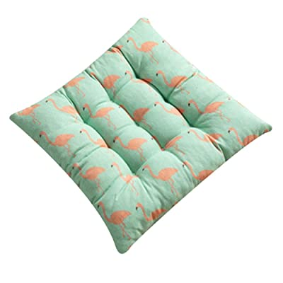 Yuaja Office Seat Cushion Thicken Cushion Cushion Floor Floor Butt Cushion Square Breathable Cushion Animal Plant Pattern Cushion Meditate Living Room Balcony Office Outdoor Relieve Back Pain: Kitchen & Dining