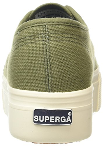 Superga Down Green 2790 up and Trainers Green Capulet Women's Acotw Linea RrnURYq