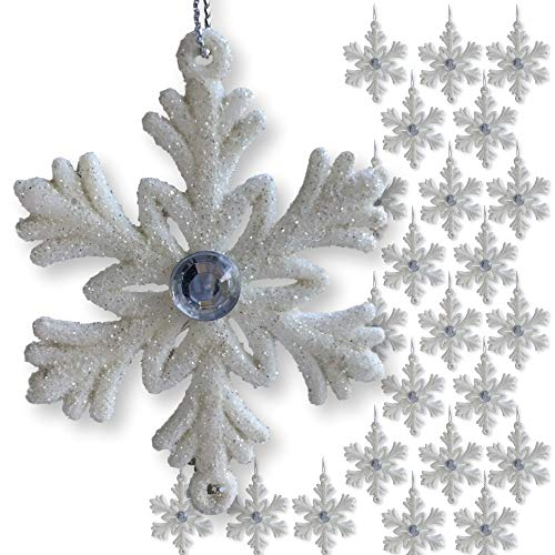 BANBERRY DESIGNS Small White Snowflakes - 2 ½
